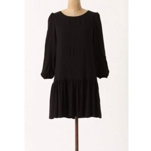 Anthropologie Dropwaist Black Mini Dress